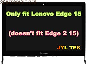 "JYLTK 15.6"" FHD LCD Screen LED Display + Touch Digitizer + Bezel Frame Assembly 00JT261 for Lenovo Edge 15 80H1 80K9 80H1X001US 80H1X002US"