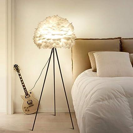 Hlidpu Lámpara de pie con Pluma de trípode LED, luz ...