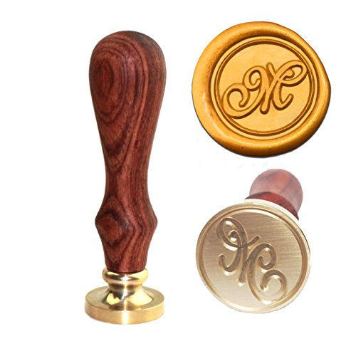 (Letter M Wax Seal Stamp,Botokon Vintage Retro Brass Head Wooden Handle Alphabet Letter Initial Wax Classic Sealing Stamp, Ideal for Decorating Gift Packing, Envelopes, Invitations, Wine Packaging)