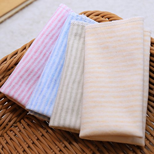 ICYCHEER 4 Pcs Soft Baby Bath Towels Infants Face Washcloth Handkerchiefs Bibs Washcloth Bathing Feeding Wipe Cloth ZH