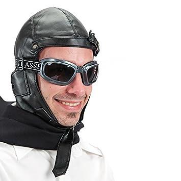 Chapeau Aviateur Simili + Lunette Pilote Deguisement Accessoire - 255-177 db1907a3ad9