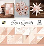 American Crafts 12 x 12 Inch Quartz Rose Gold Foil Double Sided 36 Sheets Die Cuts with a View Stacks, 12'' x 12''