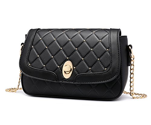 Women Bag Bag Shoulder Wild Chain Bags Mini Korean Oblique Simple Backpack Summer Wave Package Black Color Black wqvqHR