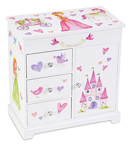 JewelKeeper Unicorn Musical Jewelry Box with 3 Pullout Drawers, Fairy Princess and Castle Design, Dance of the Sugar Plum Fairy Tune Design Armoire