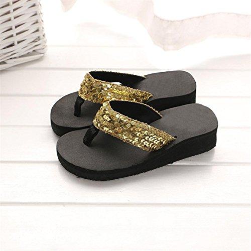Casual Slipper or tongs loisirs intérieure dérapant chaude Bellelove et vente pour Med femmes paillettes sandales Pantoufles extérieure Heels anti chaussures 2018 d'été wqwpFxU1PZ