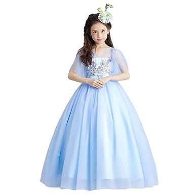 0ea73c2245ef9 Tortor 1bacha(JP) 子供ドレス ロング丈 チュールドレス キッズ 女の子 プリンセス 春秋 花