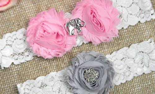Elephant Wedding Garter Set MORE COLORS by PCB Studio
