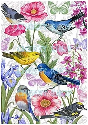 Flower Paper for decoupage Vintage Style Total 3 Sheets A4 // 20x21 cm