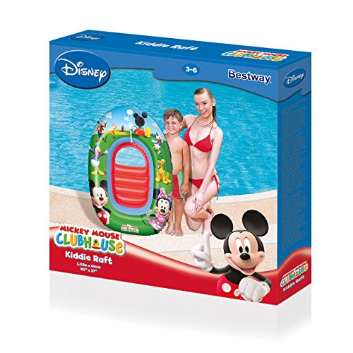 Mickey Mouse Clubhouse Kiddie Raft - Mickey & Minnie Inflatable Boat (Kiddie Boat)