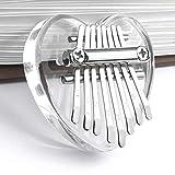 Kalimba 8 Keys Thumb Piano, Mini Kalimba Clear