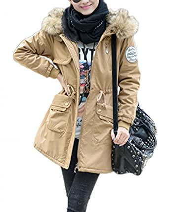 Amazon.com: ShanMou Women's Winter Coats Casual Drawstring