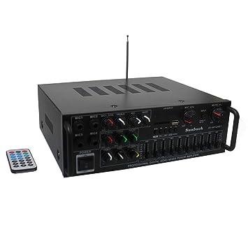 Sistema de Amplificador de Karaoke inalámbrico Bluetooth-2x200W ...