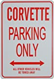 CORVETTE PARKING ONLY - Miniature Fun Parking Signs - Ideal Gift for the Motoring Enthusiast