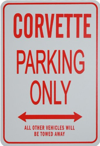 - CORVETTE PARKING ONLY - Miniature Fun Parking Sign