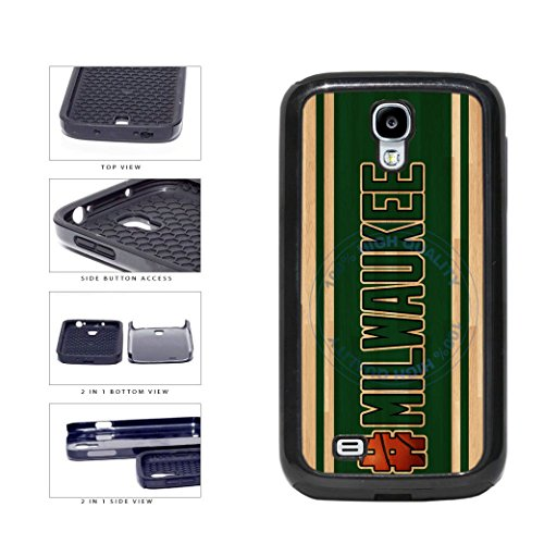 BleuReign(TM) Basketball Team Hashtag Milwaukee #Milwaukee 2-Piece Dual Layer Phone Case Back Cover For Samsung Galaxy S4 I9500 (Brewers Samsung Galaxy S4 Case)