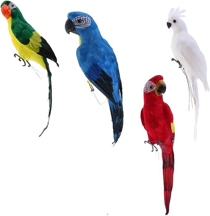 HomeDecTime 4pcs Pluma Colorida del Pájaro Decoración del Jardín ...