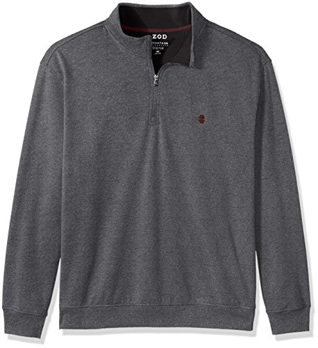 1/4 Zip Fleece Sweatshirt (IZOD Men's Big Advantage Performance 1/4 Zip Pullover Fleece, Cinder Block, 4X-Large Tall)