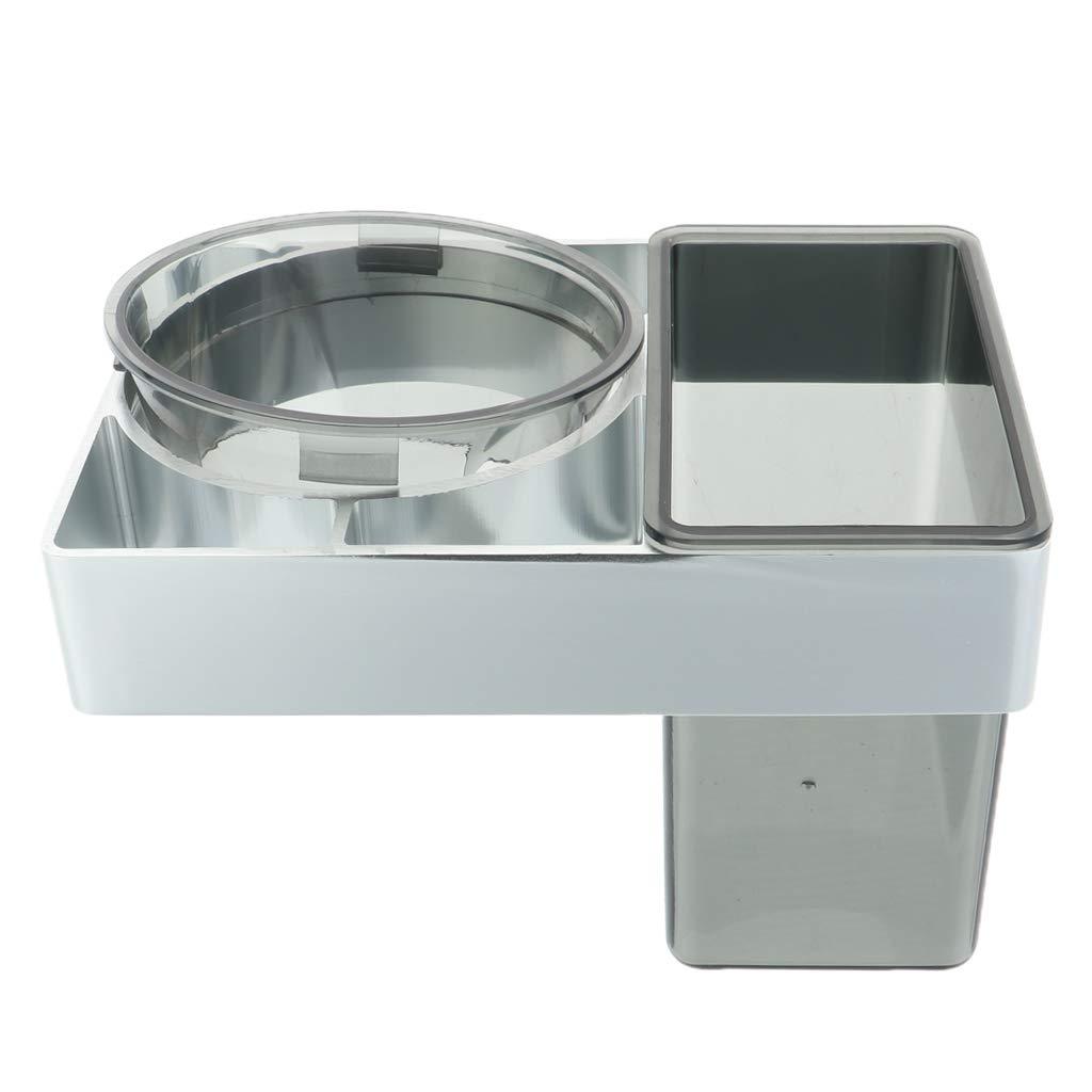 F Fityle Colgador Secador Pelo y Plancha Pared Ventosa de Aluminio para Ba/ño Cocina Color Plateado