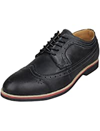 Men's Distressed Top Grain Genuine Leather Wingtips Oxfords Dress Shoes Lace-up