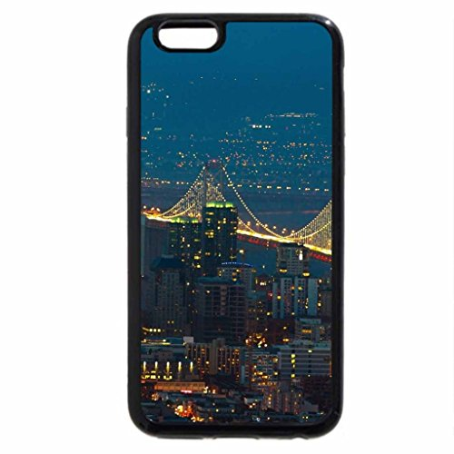 iPhone 6S / iPhone 6 Case (Black) wide view of san francisco bay bridge at night