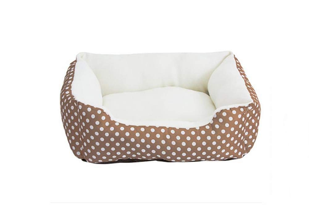 Brown Gperw The Dog's Bed, Cushion Warm Luxury Pet Basket Non Slip Cushion Pad (color   Brown)
