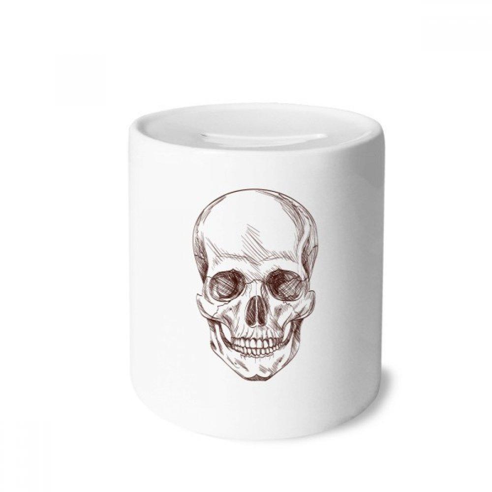 DIYthinker Humanos del Esqueleto del cráneo Ilustraciones Caja de Dinero de Las Cajas de ahorros de cerámica Adultos Moneda de la Caja para niños