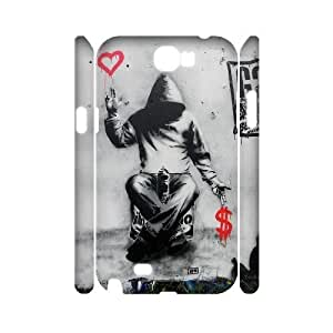 Diy Fashion Graffiti Phone Case for samsung galaxy note 2 3D Shell Phone JFLIFE(TM) [Pattern-1] by ruishername