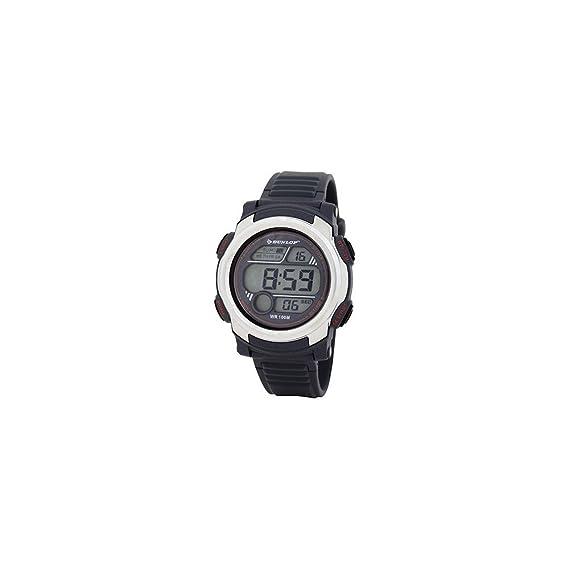 Dunlop Reloj Digital para Hombre de Automático con Correa en Caucho DUN-195-G02: Amazon.es: Relojes