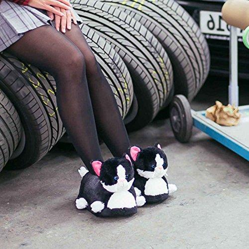 Innensohle Laufsohle Sneaker Lustig 39 Plüsch EU Gepolstert Qualität Katze Hausschuhe Warm Damen Tierhausschuhe Funslippers 41 Hochwertig Rutschfest fng7x4q