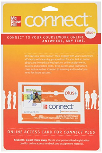 Connect Plus Access Card for Hole's Anatomy and Physiology -  Shier, Access Code