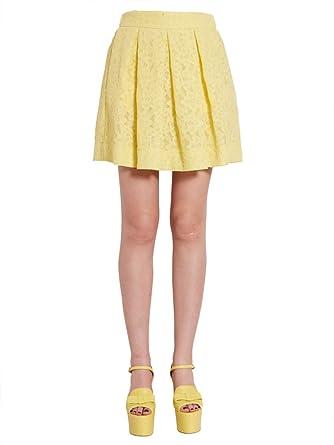 Moschino A011911390024 Jaune Boutique Amazon Jupe Polyester Femme dZwfxqxF8