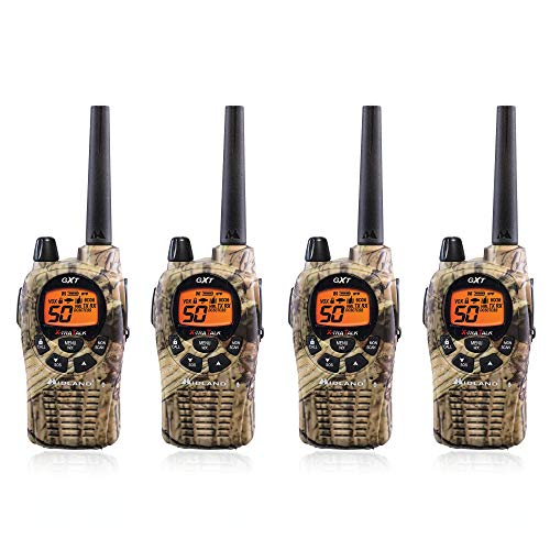 Midland GXT1050VP4 36-Mile JIS4 Waterproof 50-Channel FRS/GMRS Two-Way Camo Radio ( 4 Pack )