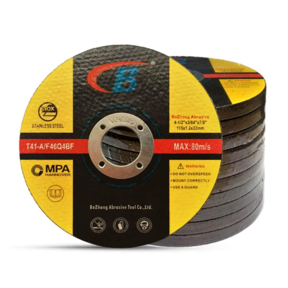 Cut-off Wheel, B, 50-Pack Cutting Wheels Double Reinforced Fiber Flat Grinding Wheel Aggressive Cutting Blades for Metal and Stainless Steel, T41-A/F46Q4BF 4.5'' x .045'' x 7/8-Inch for Grinders, MPA