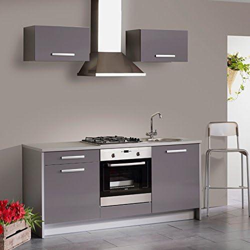 Bloque de cocina de 185 x 200 x 60 cm cocina Single simio gris, armario de cocina Mini cocina pequeño bloque de cocina: Amazon.es: Hogar