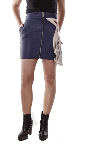 Diesel L-Navi Falda de Cuero para Mujer (W27, Azul): Amazon.es ...