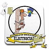 Dooni Designs Worlds Greatest Cartoons - Funny Worlds Greatest Electrician III Cartoon - 10x10 Inch Puzzle (pzl_103151_2)