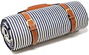"""SEL&M Extra Large Picnic Blanket Tote / Waterproof Blanket for Family 79""""x79"""" / Water Resistant"""