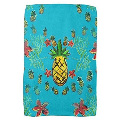 "16""x24"" pineapple print microfiber towel"