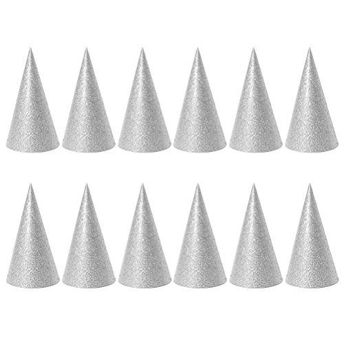 TOYMYTOY Party Hats Cone Hats Birthday Party Hats for Kids and Adults Party Favors Decorations - 12 Pieces