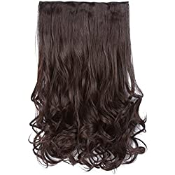 """Curly Wave Clips In Synthetic Hair Extensions Heat-Resisting Fiber For Women by Originea 5 Clips Wavy Curly Style Ponytail Hairpieces O-01(18"""", 2/33)"""