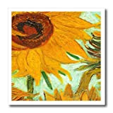 3dRose ht_100929_2 Picture of Van Goghs Heavily Textured Painting Sunflower-Iron on Heat Transfer for White Material, 6 by 6-Inch