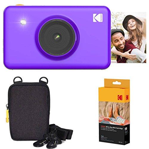 - Kodak Mini Shot Instant Camera (Purple) Basic Bundle + Paper (20 Sheets) + Deluxe Case