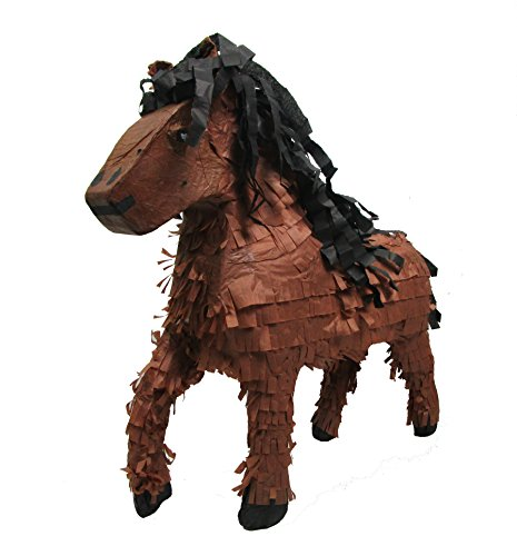 Pinatas Large Horse, Brown, Western Party Game, Cowboys Decoration and Photo Prop, 22