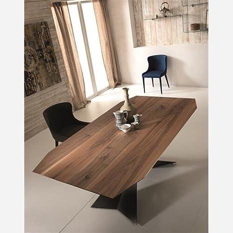 Emporio3 Tavolo da Cucina Fisso in Legno - ST576, Piano Noce ...