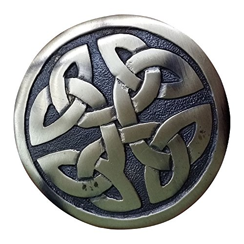 AAR Men,s Scottish Celtic design Kilt Brooch Fly Plaid Antique Finish 2.70