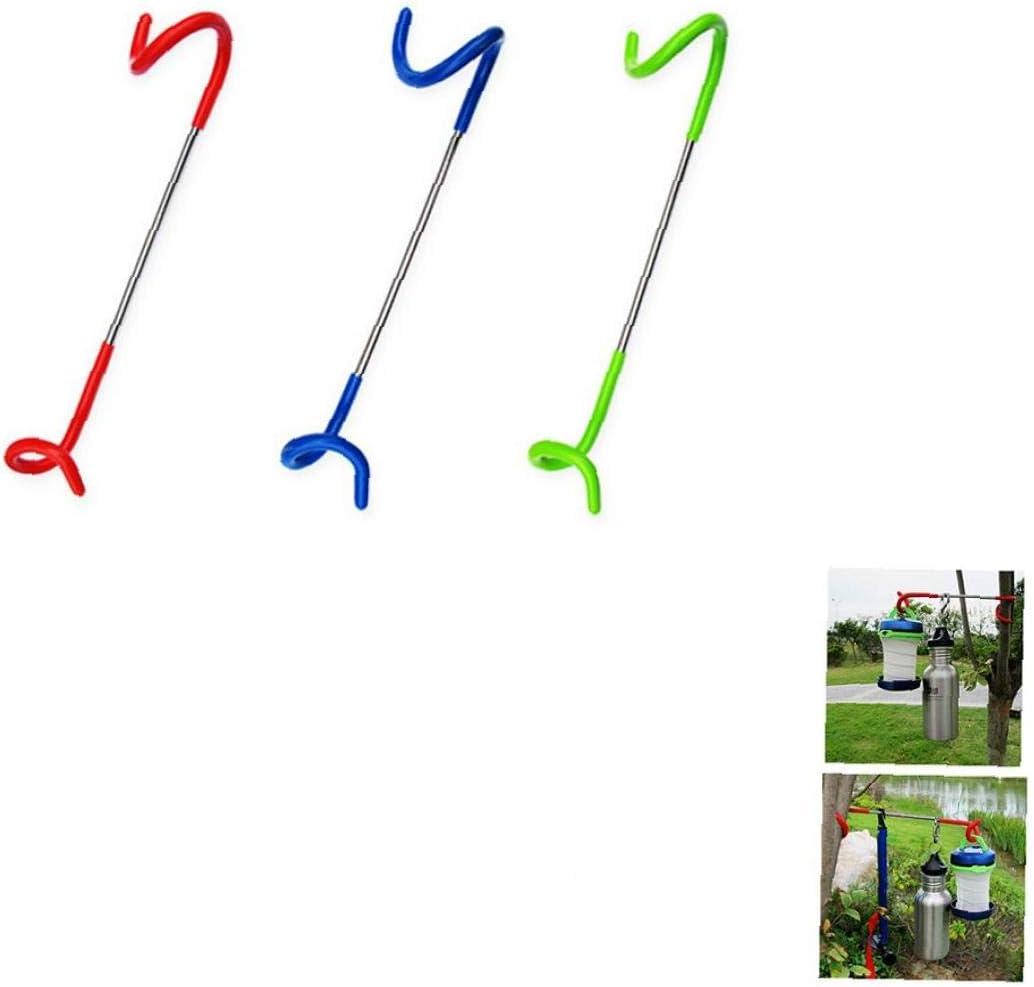 3pcs Multifunktions Laterne Aufh/änger im Freien helle Lampe Laternenhaken kampierende Jagd-Fischen-Zelt Pole Pfosten Starke Hanger