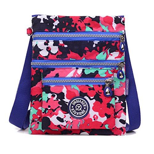- TianHengYi Small Water Resistant Nylon Cross-body Shoulder Bag Multilayers Camo