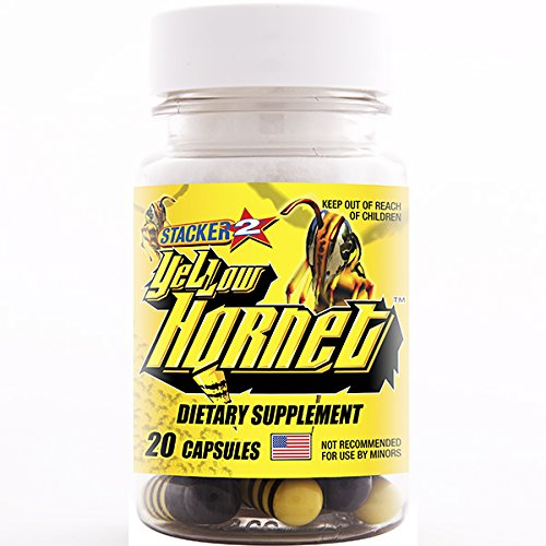 Yellow Hornet Herbal Dietary Supplement 20ct (Lot of 6 X) = 120 Capsules