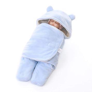 Melodycp Chico y Chica mimosos reciben una Manta Abrigo de bebé Manta de pañales Saco de