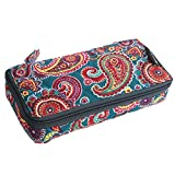 Pill Organizer case Box,7 Days Round Vitamin Organizer Box (Moonlight Pasiley)